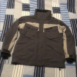 Fully lined Spyder gray ski jacket size medium!